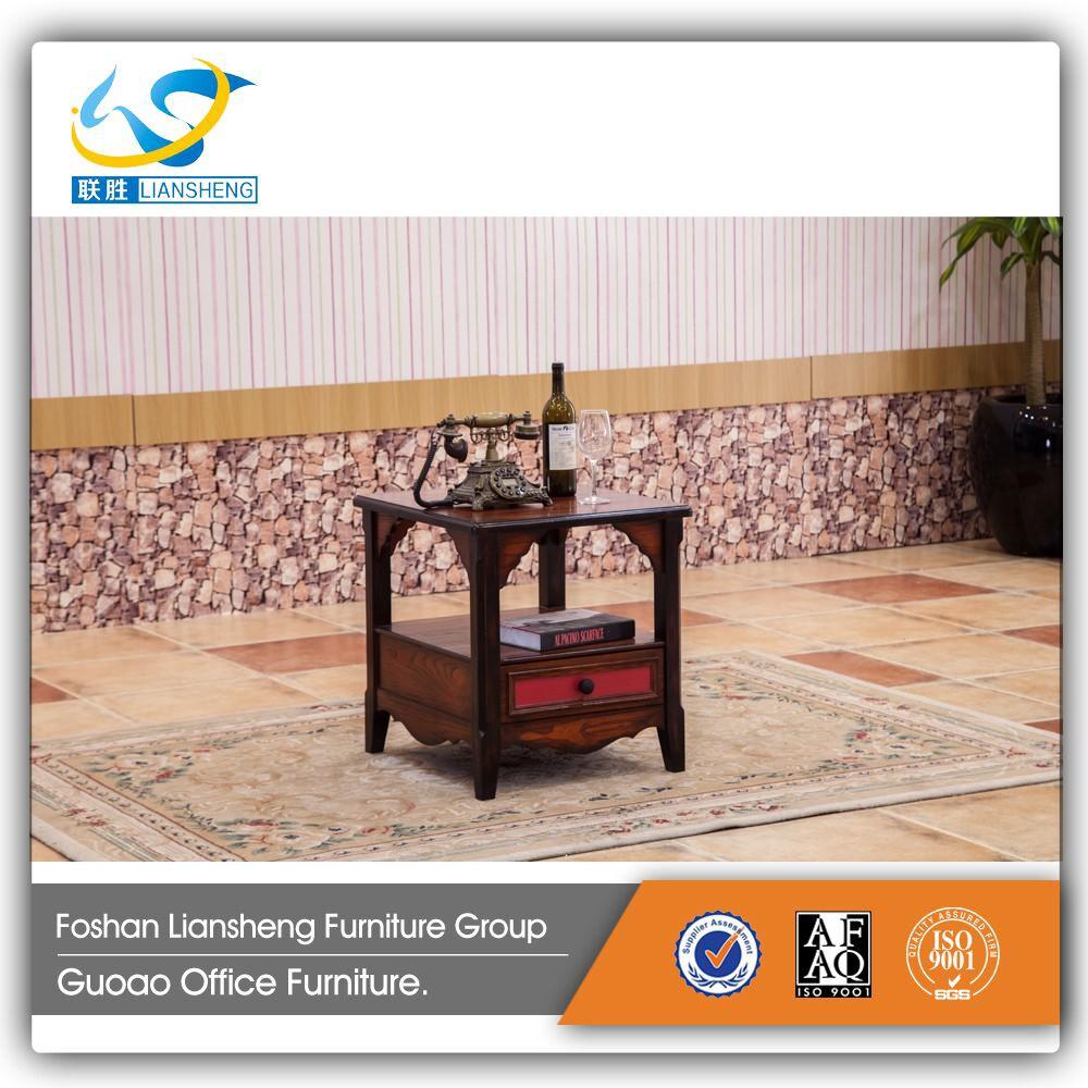 Kecil Walnut Unik Tampilan Meja Kopi Ruang Pedesaan Sofa Meja  # Muebles Tadel Grup