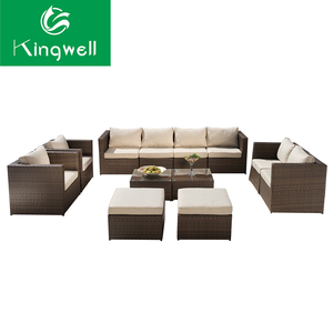 Outdoor furniture 7 seater sofa foshan furniture industrial dfs sofa with quick delivery