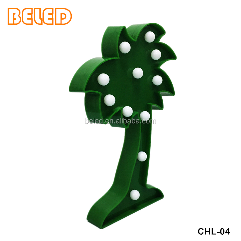 Green led Coconut tree lights holiday decor light