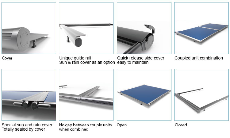 aluminium terrace roof awning