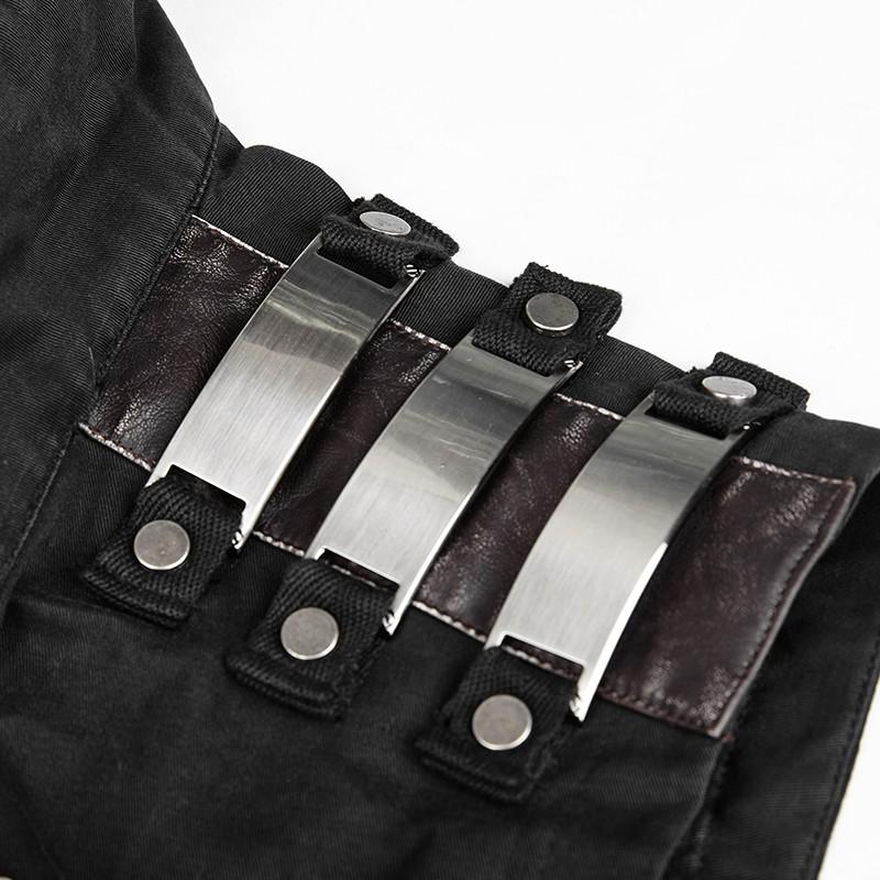 Y-741 stylish black cowbay jackets high collar sleeveless waistcoats