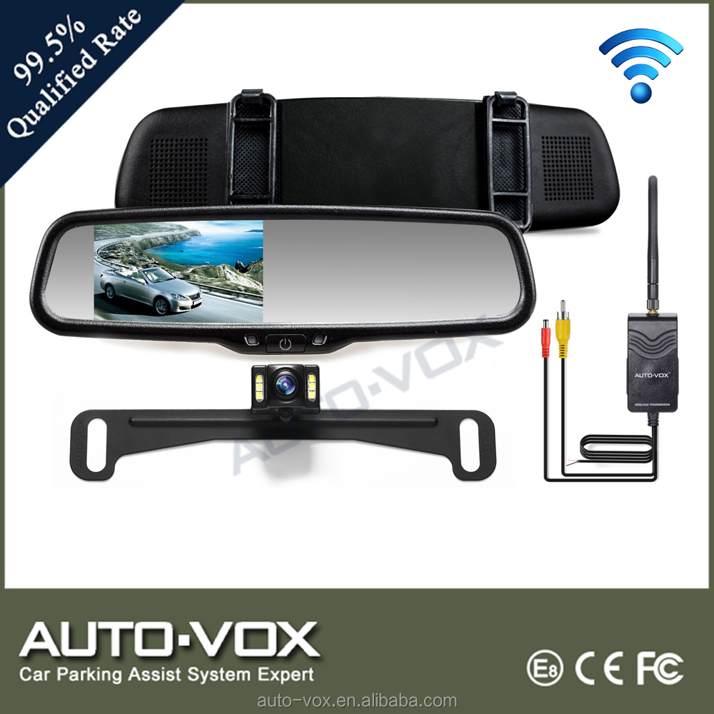 2.4g wireless hight brightness rearview monitors license plate camera