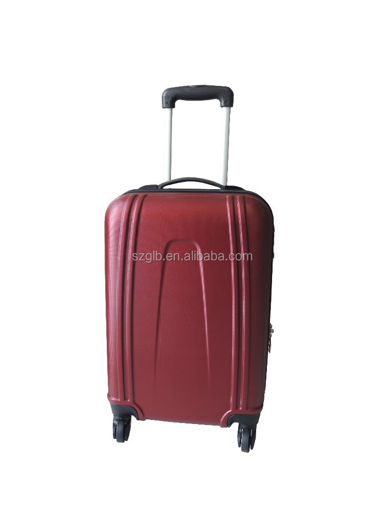 deep red hot sell ABS lady luggage case/suitcase/trolley case
