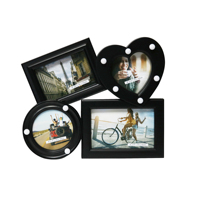 BH1118L promotional gift colorful lighted up plastic LED picture photo frame