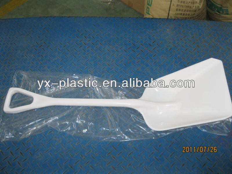 plastic square head spade garden shovel with head and the handle cannot be separated
