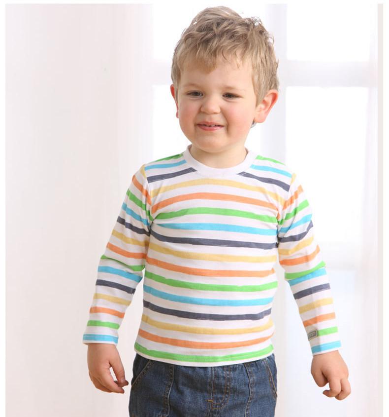 Детские футболки длинный рукав хлопок тис весна осень Bebe одежда мальчики девочки футболки одежда животные привязали