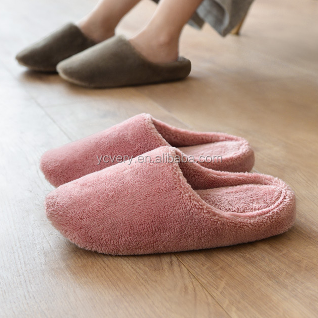 Soft Coral Fleece Bedroom <strong>Slipper</strong> with EVA sole