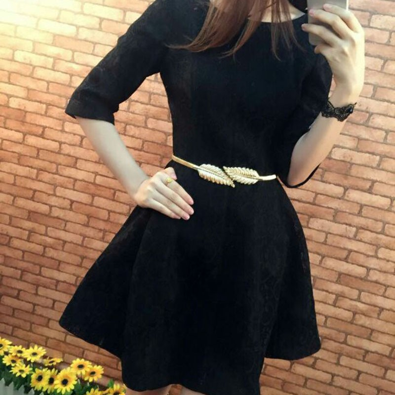 Best Selling China Factory Custom Elastic Belt Clasp Front Metal Retro Fashion Lady Waistband Waist belt slim
