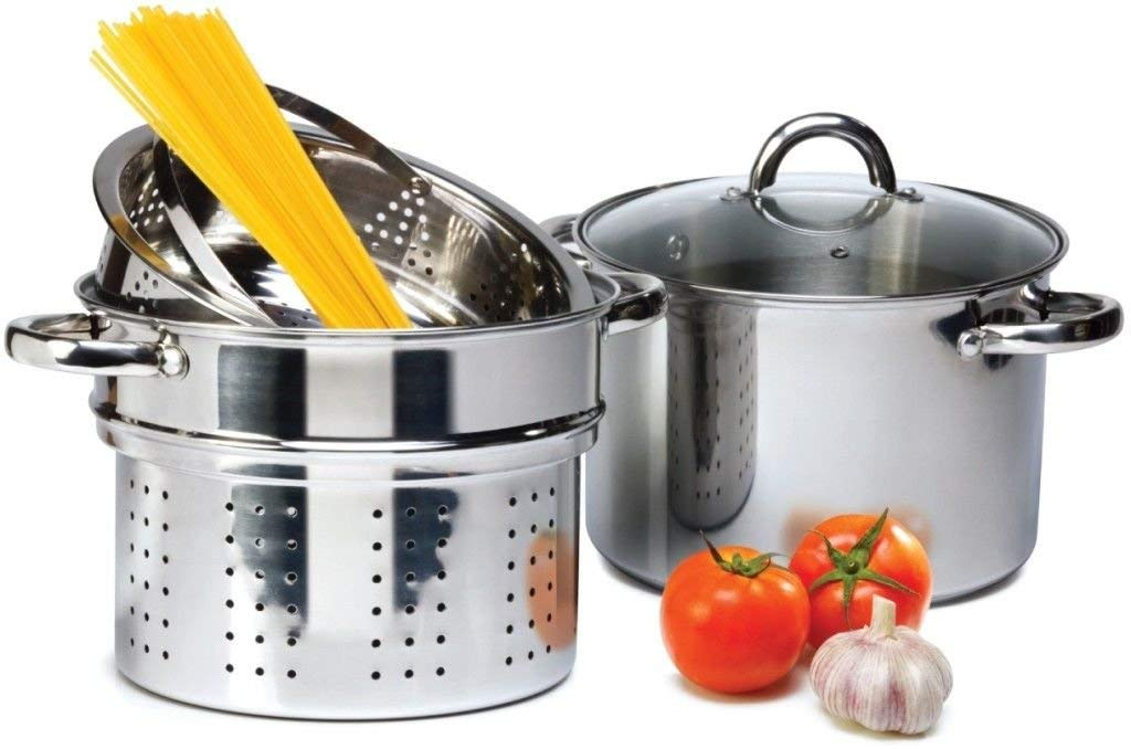 Cuisinox POT-C24-PASTA Gourmet Covered Pasta Pot Set 7.5-Liter