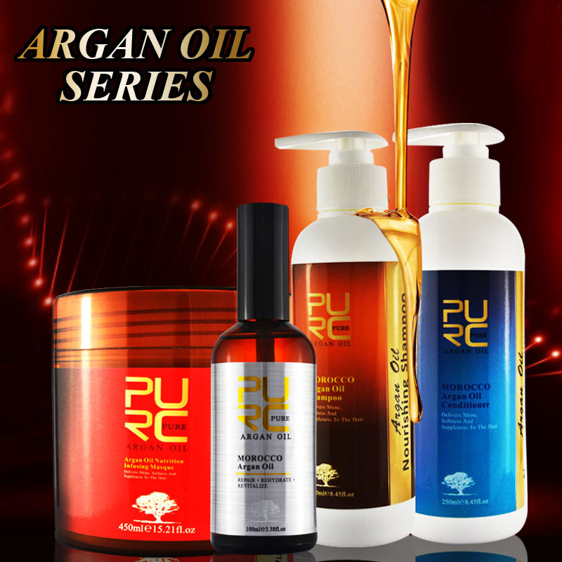 Professional application on damaged and dry hair argan oil daily use hair care products