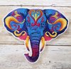 Eco Sew On/iron on Applique Embroidery Cute Cartoon Animal elephants Logo Labels Patches for Kids and Baby