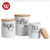 Amazon online sale 4 Pcs Round stainless steel canister set/Storage Jar