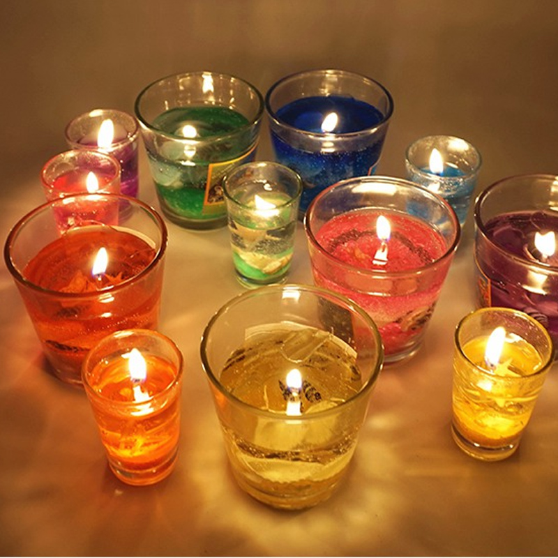 Smoke-free birthday cheap glass candle cup