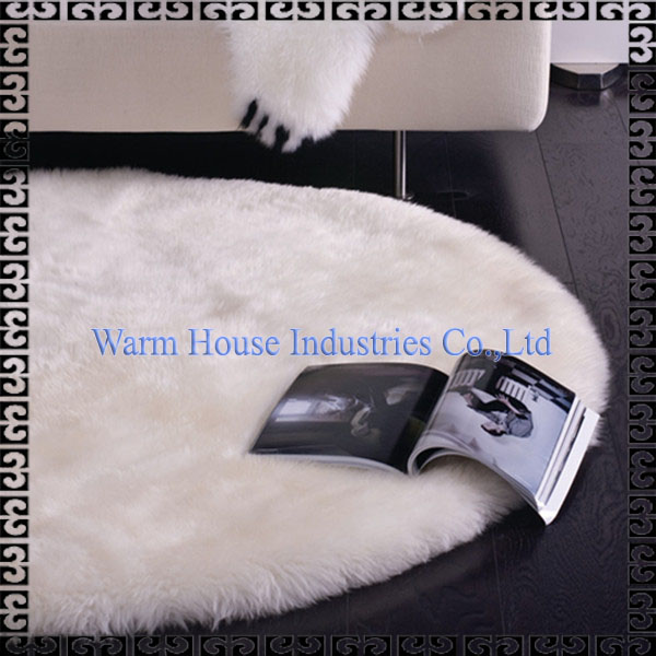 Foldable Eco-friendly 100% Wholesale Natural Sheepskin Rug
