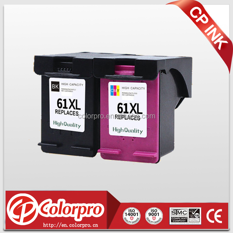 Remanufactured for HP 61XL Ink Cartridge with Ink Level Display Used for HP Deskjet 1000 1512 2540 3050 3510 2510