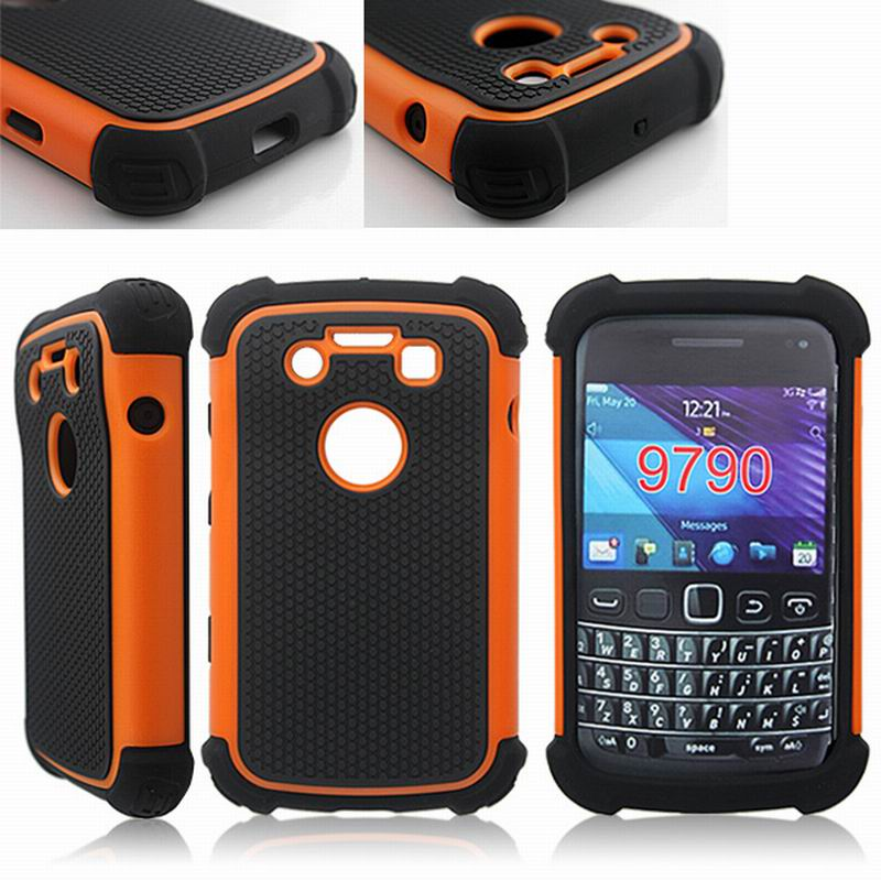 HARD SOFT COMBO HYBRID ARMOR CASE FOR BLACKBERRY BOLD 9700 9790 BACK COVER