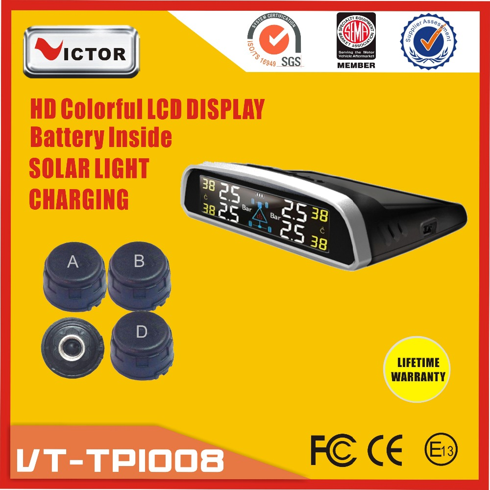 High quality digital monitor tire pressure gauges,solar power technology, external sensor
