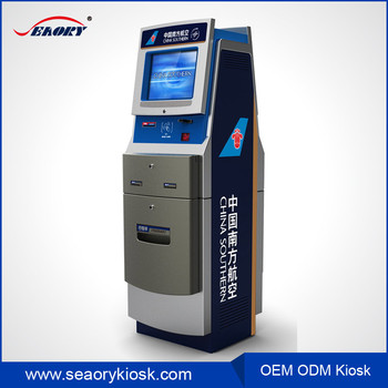Airport Boarding Pass Printer Touch Screen Pc With Ticket Printer