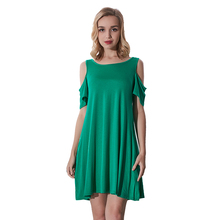 Wholesale Women Dress Blank Cotton Casual Dresses For Fat Ladies
