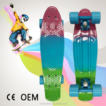 four pu wheels colorful plastic skateboard