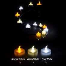 Amber Yellow Wedding Party Tealight Battery Powered Flameless LED Tea Light Candle