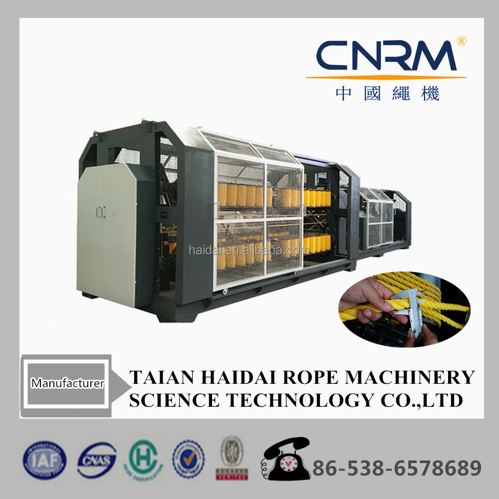 CNRM Haidai Twisted plastic rope/ sisal rope/Nylon cord making machine for sale