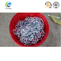 High tensile long link chain