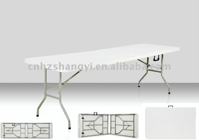 8ft outdoor fold up tables in plastic