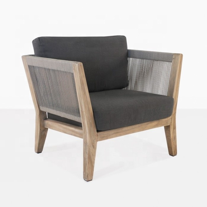 Durable and UV-resistant garden furniture teak wooden chair