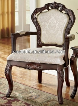 Stocklots Furniture Solid Wood Hand Carved Pattern Arm Chair Antique Style Accent Chair With Fabric Cushion Buy Antique Wooden Arm Chairs Hand