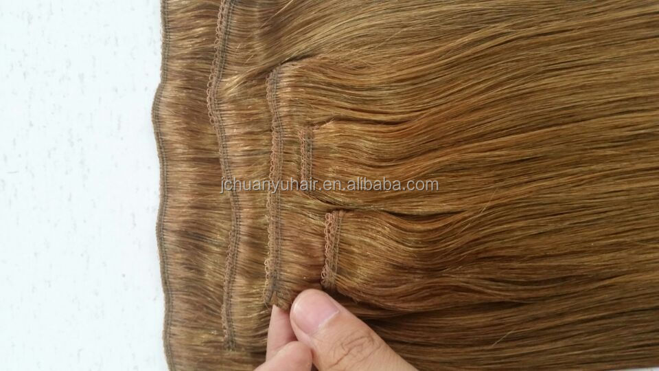 quality guarantee long lasting clip in 100% remy human hair