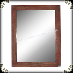 Hot sell vintage style country cheap wall framed mirror for Inexpensive framed mirrors