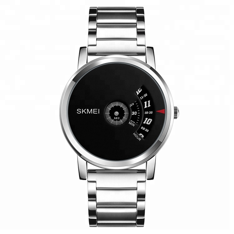 custom men watch men wrist quartz 3atm water resistant stainless steel watch case Skmei 1260, 4 colors/ customized can be available