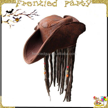 423a84684fa Cheap Fancy Party Hat Wth Wigs Captain Jack Pirate Hat Fgh-1181 ...