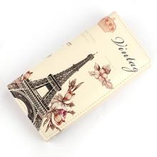 Superior Quality 1PC Flower Tower Pattern Women Long Purse Clutch Wallet Bag Card Holder