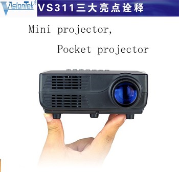 Outdoor vs311 full hd 480p portable led mini projector for Mini outdoor projector
