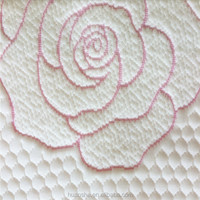 New Flower Design Rose Red Supply Fabric for Mattress Made of 100%Polyester In Xiaoshan