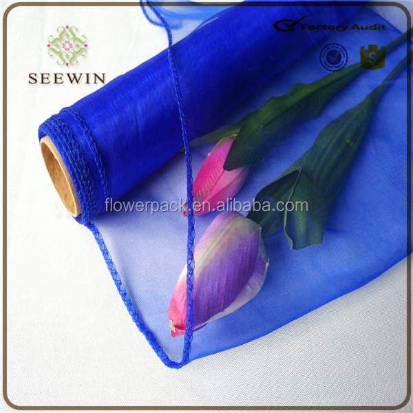 flower packing organza big roll fabric sales