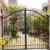 Powder Coated Frame Finishing main designs wrought iron gate