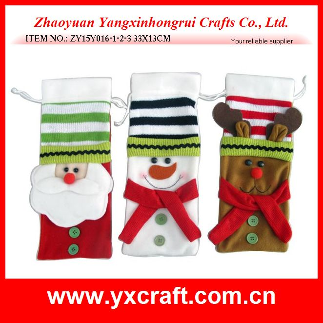 Christmas decoration (ZY15Y016-1-2-3 33X13CM) christmas new year decoration hotel wine bag supplies