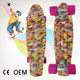 Deck material 100% new PP 2018 new design skateboard with PU wheels for sale