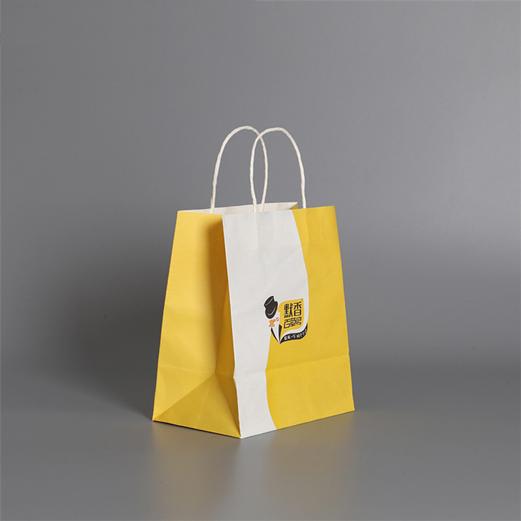 Custom Printed Logo Buy Cheap Brown Kraft Paper Bag With Handle For Wholesale