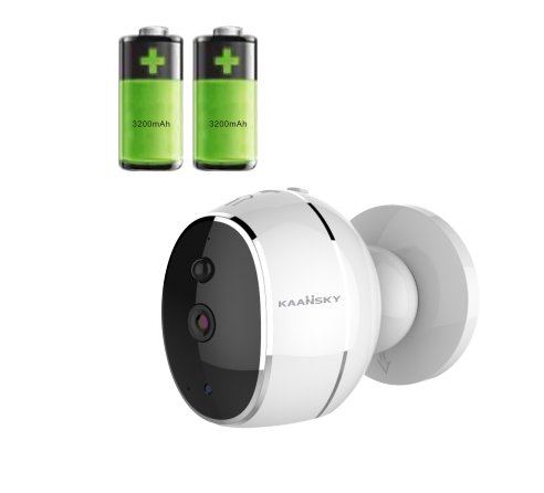 Battery Operated Security Camera >> Kaansky Two Way Audio Indoor Battery Operated Cctv Wireless Security