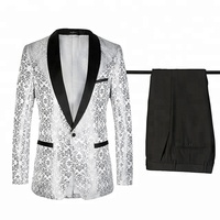 2 Pieces Black Shawl Men Suits Wedding Suits for Men Groom Tuxedos
