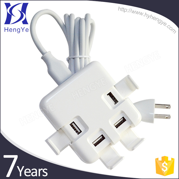 best selling products in america 4 ports wall charger ac 100 - 240V usb wall charger ul