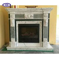 New Arrival Home Decorative Marble Black Marble Fireplace