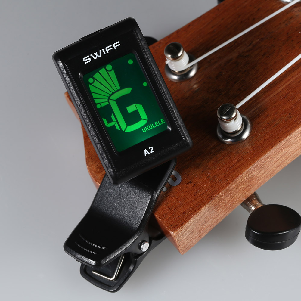2018 swiff a2 mini guitar tuner clip on automatic digital tone tuner lcd for acoustic electric. Black Bedroom Furniture Sets. Home Design Ideas