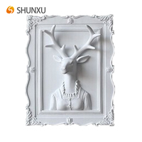 Hot Sale Wall Hanging Art Mr.Deer in the Photo Frame Classic Wall Mount Art 3D Picture