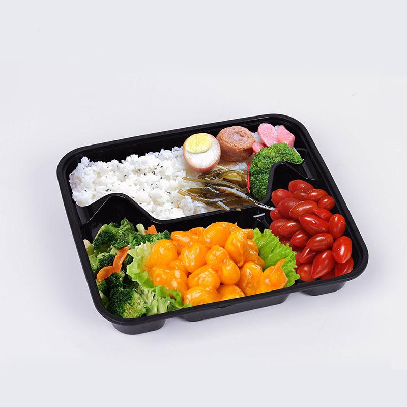 Einweg-Plastik-4-Fach-Essensthermische Lunchbox