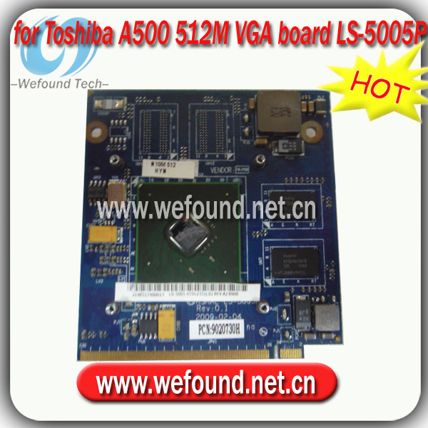 Hot! Laptop 512m vga-karte ls-5005p toshiba a500 motherboard